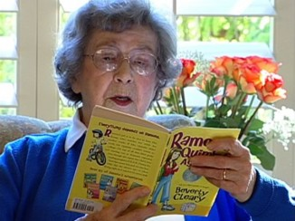 Beverly-Cleary-reading-Ramona-book-BeverlyClearyDotCom