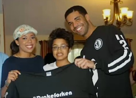 Drake visits dying teen fan
