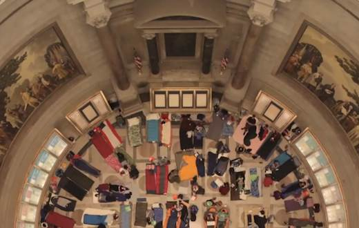 rotunda Natl Archives-sleeping bags