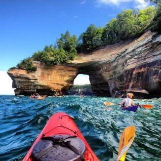 1st- Pictured Rocks National Lakeshore in Michigan by Courtney Kotewa