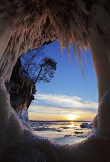 2nd- Ice on Apostle Islands National Lakeshore by Michael DeWitt