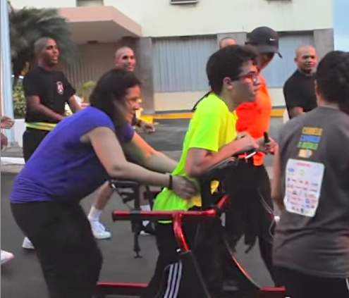 Sebastian-in-walker-runs-3K-race