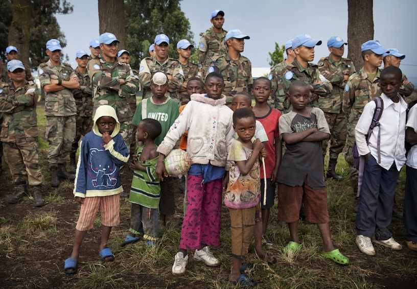 A new soccer school for kids launches in Democratic Republic of Congo, created by UN Peacekeepers from Uruguay and Spain