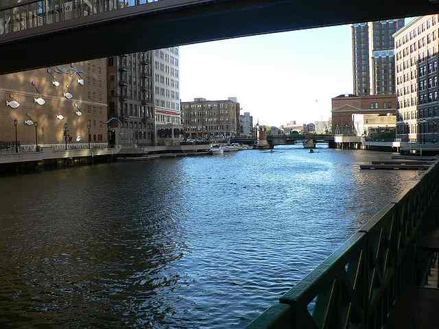 Once polluted the milwaukee river is now clean and for Milwaukee river fishing