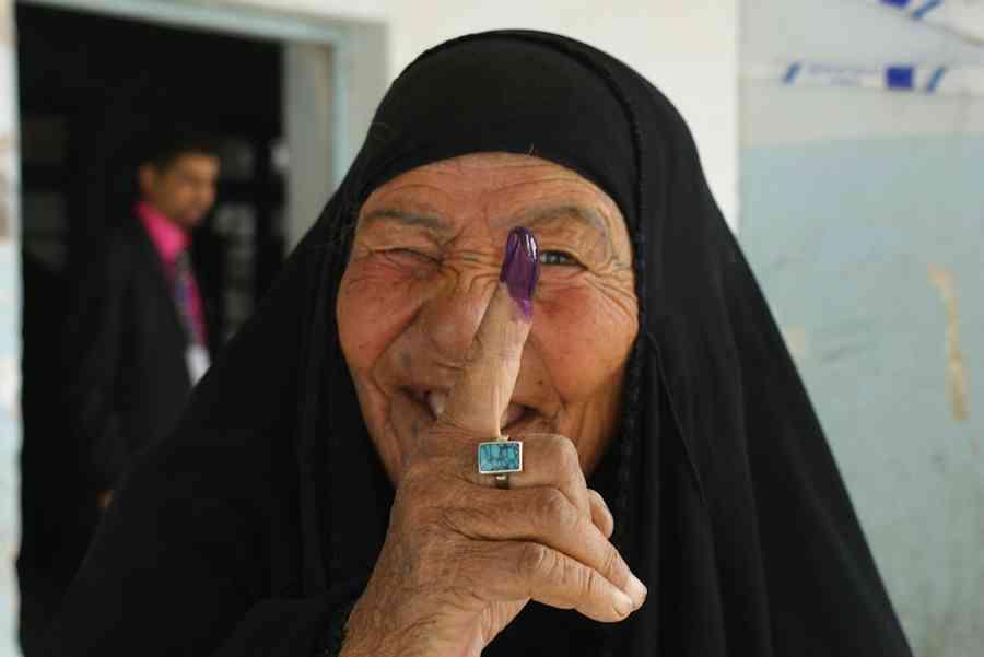 Proud Iraqi women vote in Nasiriyah