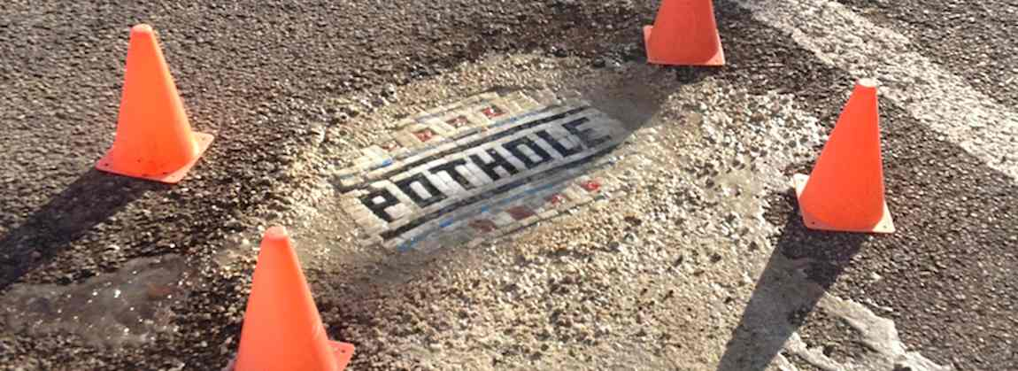 Pothole Art by Jim Bachor
