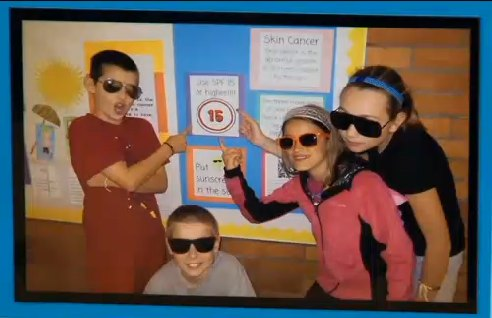 sunglasses-on-students-teach-about-sunscreen