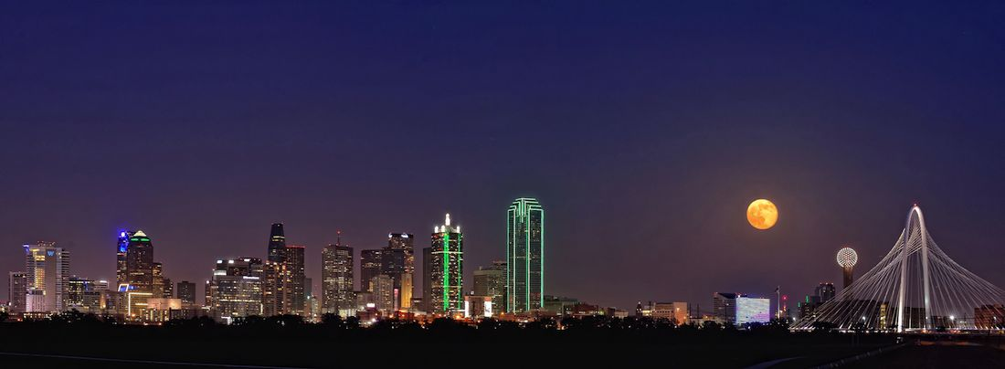 Supermoon over Dallas by Dave Hensley
