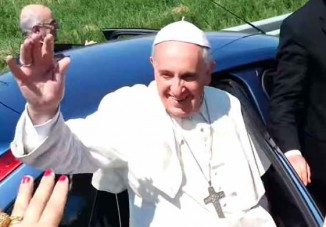 pope-waving-YouTube-screenshot
