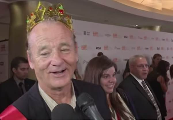 Bill-Murray-day-with-crown-TorontoFilmFestivalvideo