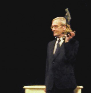 Stanislav Petrov receiving the Dresden Prize, 2013