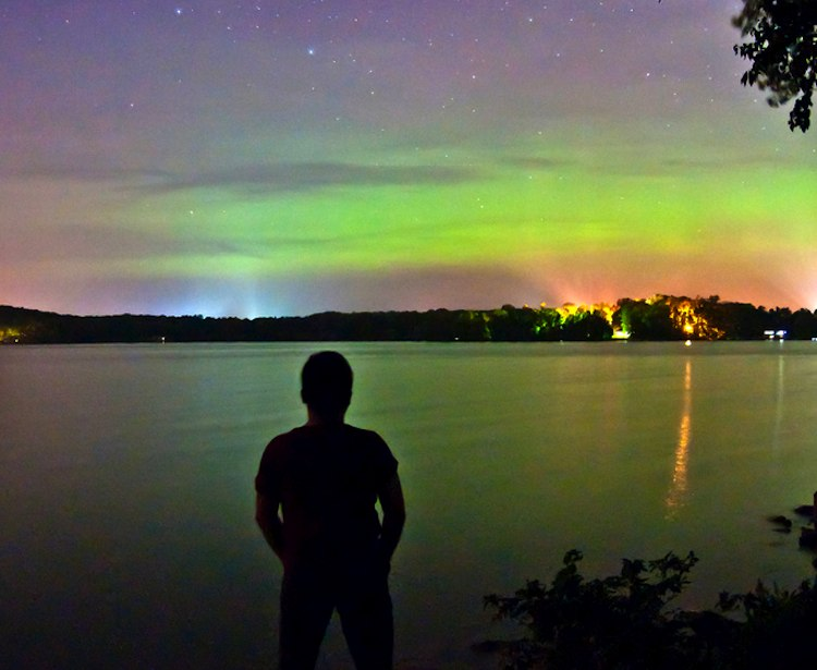 Dream Comes True: Boy Sees Northern Lights Before Vision Fades