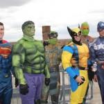 Superhero cops in costumes ProMidicaToledoChildrensHospital