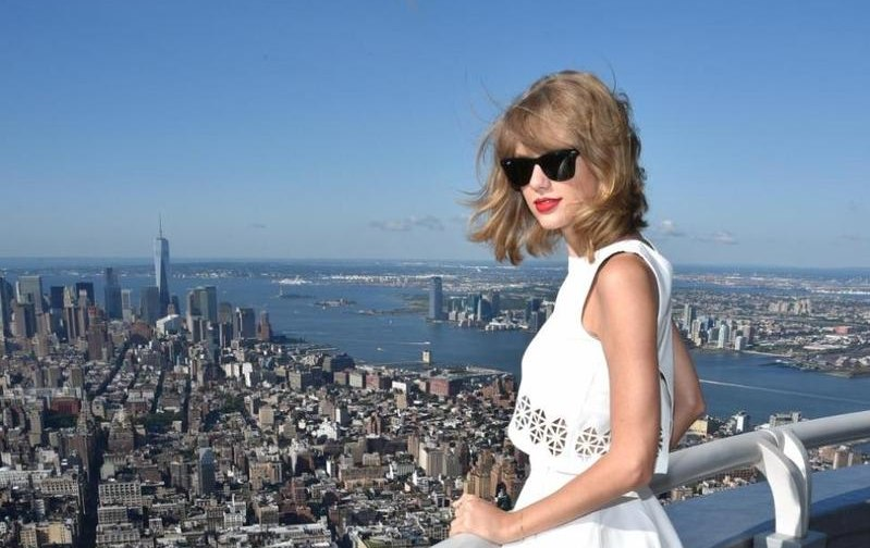 Taylor Swift above New York - LP5:Getty Images for TAS:Dimitrios Kambouris