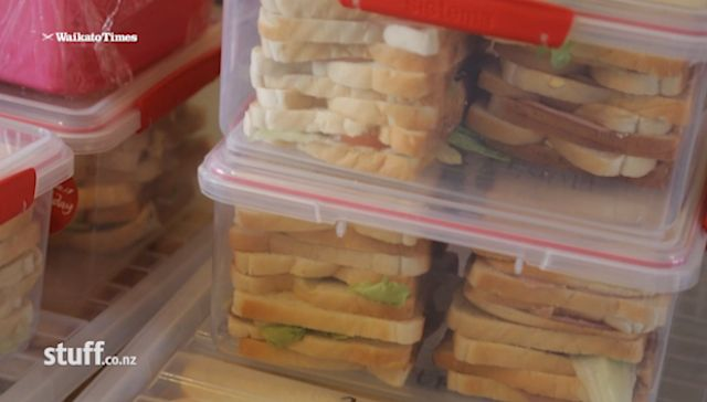 piles-of-sandwiches-new-zealand-gangs-make-Stuff-WaikatoTimesVideo
