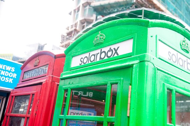 London S Red Phone Box Goes Green As Solar Powered