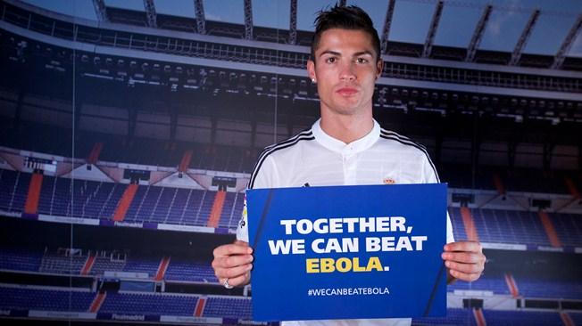 Cristiano Ronaldo-fights-ebola