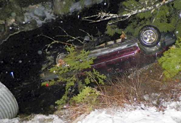 MaineStatePolice-car-flipped