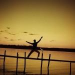 Sunset-yog-guy-CC-Ursula Le Guin
