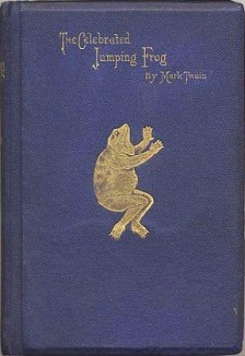 TheCelebratedJumpingFrog-book cover Mark Twain
