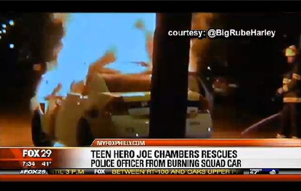 car-on-fire-FoxNewsScreenGrab-bystander-footage