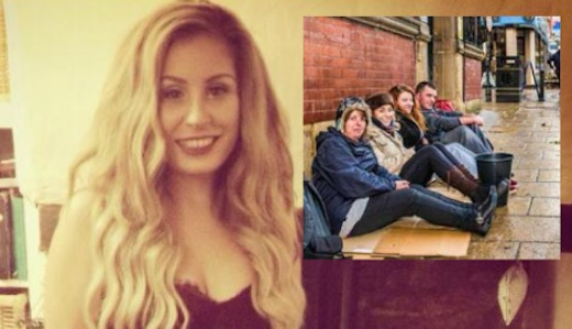 Dominique Harrison-Bentzen-homeless-fundraising-FBphotos