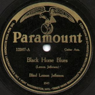 Paramount record Label blues 326px