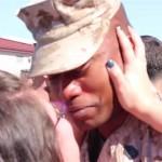 Sarah-Taylor homecoming with Marine husband soldier