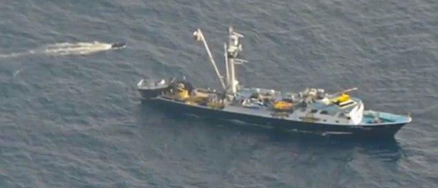 coast guard photo of tuna vessel rescue boat
