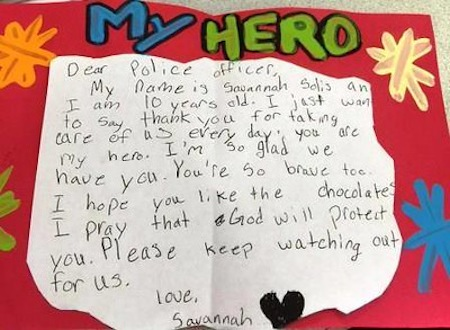 10 Year Old Girl Thanks Police Officers With 200 Hand Made Cards