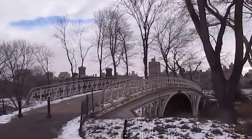 Central Park bridge in winter-LawrenceKreger-submitted