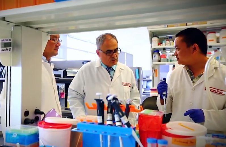 Kamel Khalili HIV virus lab-TempleUnivVid