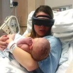 Kathy Beitz esight glasses sees newborn baby-850px