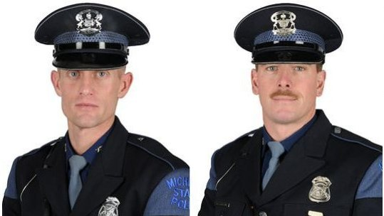 Michigan Troopers Jim Leonard and Rick Carlson-pressrelease