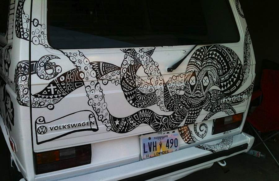 Neighbors Create Amazing Sharpie Drawings On Car Good