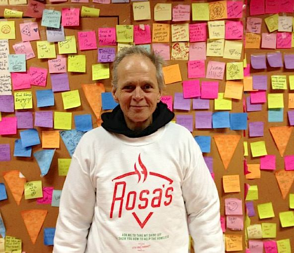 Rosas Pizza Giveaway wall-FBphoto
