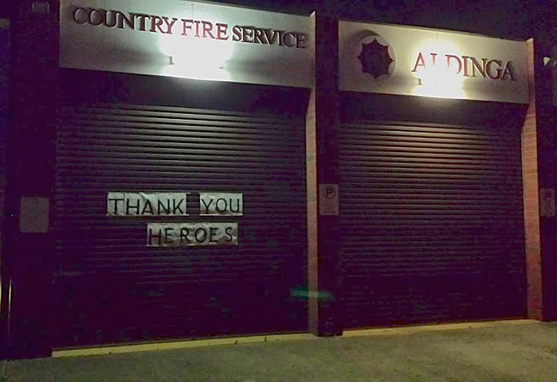 Thank You Heroes-South Australia CFS fire service sign-FBphoto