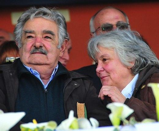 Uruguay President Jose Mujica and wife Lucía Topolansky-pubdomain