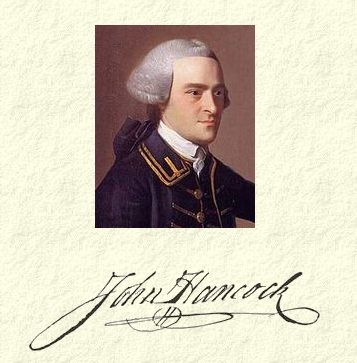 john hancock signature and portrait