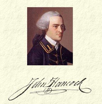 john hancock signature and portrait