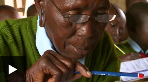 kenyan great grandma goes to first grade-BBCVideo