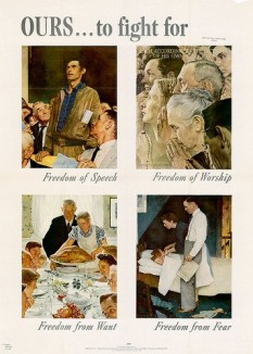 norman rockwell four freedoms poster