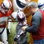 storm trooper arm presented as prosthetic-AugustChronicleVideo