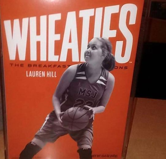 wheaties box Lauren Hill