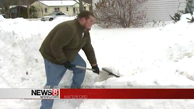 Josh Elphick shovels it forward-WTNHvideo