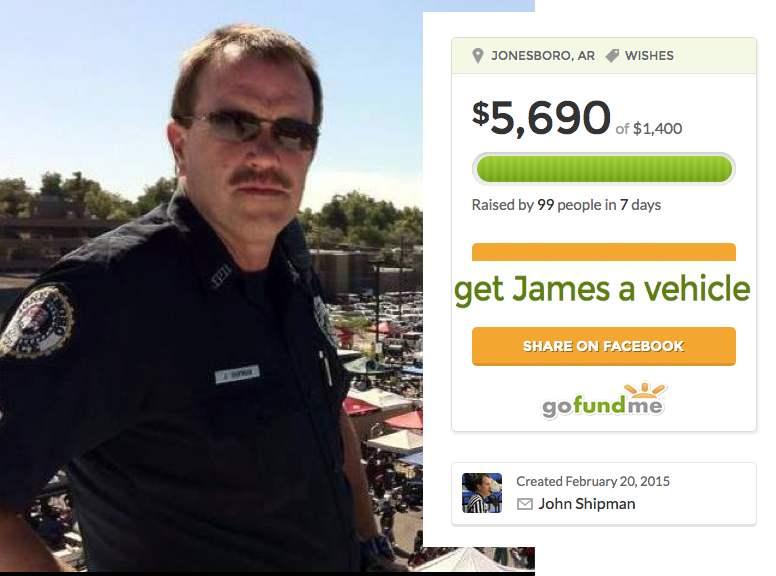 Officer John Shipman raises money to buy car for college student-FB:Gofundme