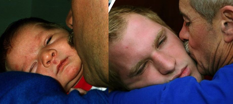 fathers kiss redone in photo calendar-Familyphotos-MacMillan