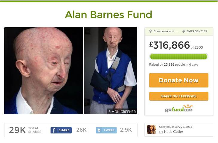 goFundme page for Alan Barnes reaches 350K