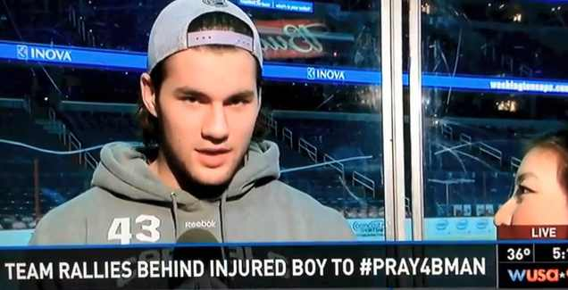 hockey player rallies for boy in sledding accident