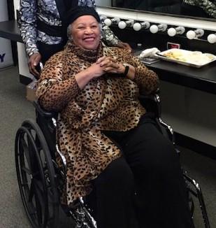 toni morrison in wheelchair - FB